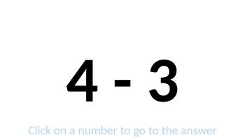 Math. Random Subtraction Sum Generator.
