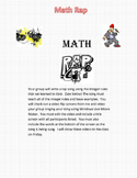 Math Rap Project - Great for Reviewing for End of Grade Test