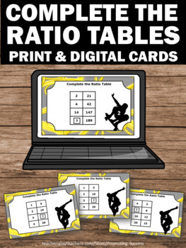 Ratios and Proportions Common Core 6th 7th Grade, Ratio Tables, Ratio Task Cards