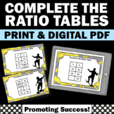 Ratio Tables Activities 6th 7th Grade Math Review, Distance Learning Digital