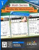 Ratios Worksheets, Percents Worksheets - Math Riddles - 4t