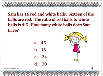 Ratios and Proportional Relationships Test Prep, Grade 7