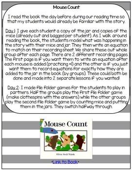 Math Read Activities