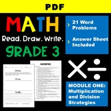 Math Read Draw Write Grade 3 Module 1