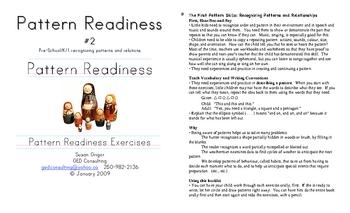 Math Readiness #2 Patterns PreK1
