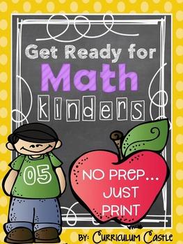 Get Ready for Math: NO PREP Kindergarten Printables!