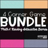 Math & Reading 4 Corner Game BUNDLE!