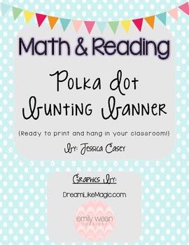 Math & Reading Bunting Banner