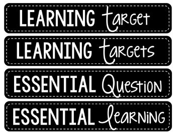 Math & Reading Focus Wall Headers