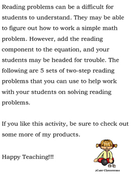 Math Reading Problems