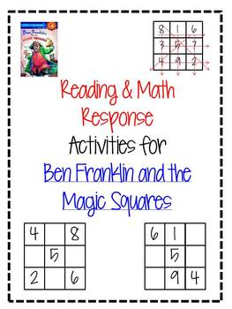 "Math & Reading Response for ""Ben Franklin and the Magic Squares"""