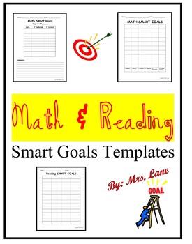 Math & Reading S.M.A.R.T. Goals Templates