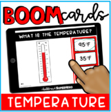 Math: Reading a Thermometer BOOM CARDS {distance learning}
