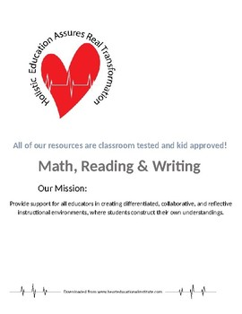 Math, Reading and Writing