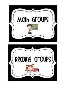 Math, Reading and Writing Group Display