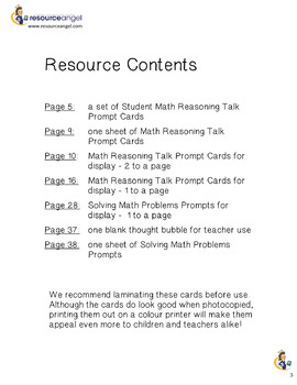 Math Reasoning Prompt Cards