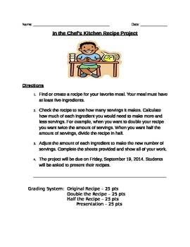 Math Recipe Project