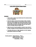 Math Recipe Project