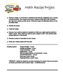 Math Recipe Project- FRACTIONS