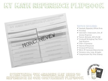 Math Reference Flipbook