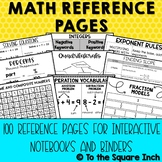 Math Reference Pages for Distance Learning