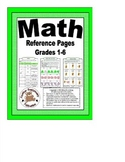 Math Reference Pages for Grades 1-6 in Color and B & W
