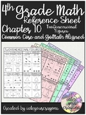 4th Grade Math Reference Sheet (Go-Math Chapter 10)