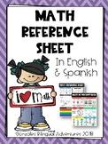 Math Reference Sheet BILINGUAL