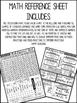 Math Reference Sheet: For BIG Kids!