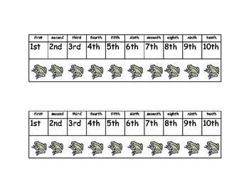 Math Reference Sheet - Ordinal Numbers