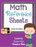 Math Reference Sheets: Kid Friendly