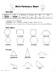 Math Reference Sheets: Kid Friendly