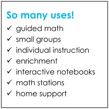 Math Reference Sticky Notes Templates