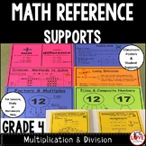 Math Reference Sheets-Supports for Multiplication & Divisi