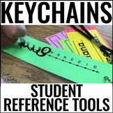 Math Reference Tools + Language Arts Reference Tools | Lanyards | Keychains