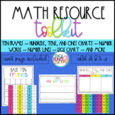 Math Reference Tools Number Lines, 120s Chart, Ten Frames,
