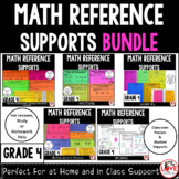 Math References Sheets BUNDLE - Supports For Grade 4