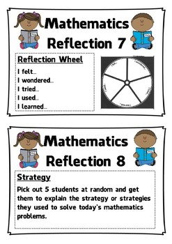 Math Reflection Cards