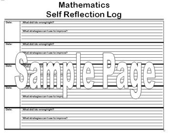 Math Reflection Log