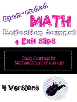 Math Reflection Response Journals and Exit Tickets