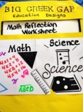 Math Reflection Worksheet