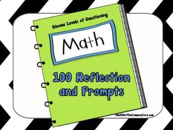 Math Reflections and Prompts with 6 Levels of Bloom's Taxonomy