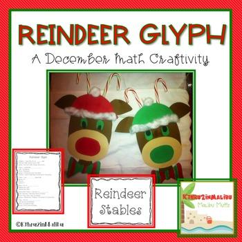 Reindeer Math Glyph Craftivity-Holiday/Christmas