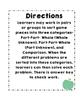 Math Relationship Word Problem Sorting Game