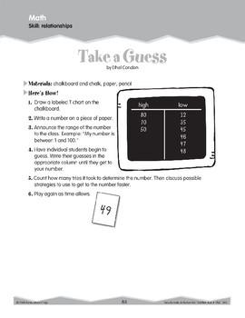Math Relationships, Properties, and Usage (Ten-Minute Activities)