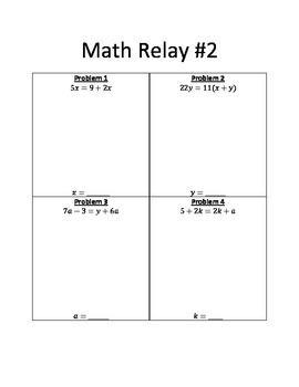 Math Relay