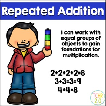 Math Repeated Addition Bundle Smart Board and PDF