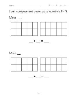 Math Report Card Test for Kindergarten MNPS
