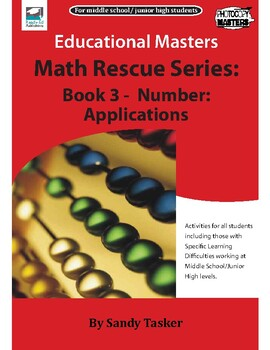 Math Rescue Series Book 3 - Number: Applications