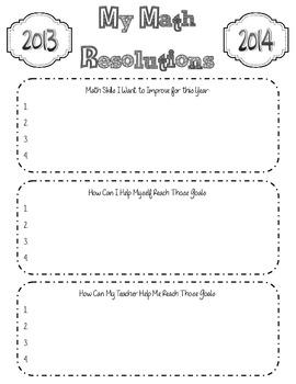 Math Resolutions & Goals
